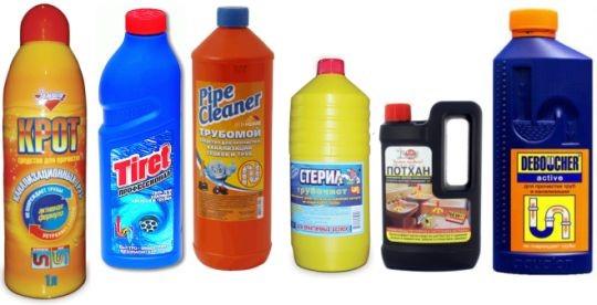 Химические средства для борьбы с засорами